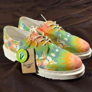 Dr. Martens vegan floral lace up Oxford shoes 9